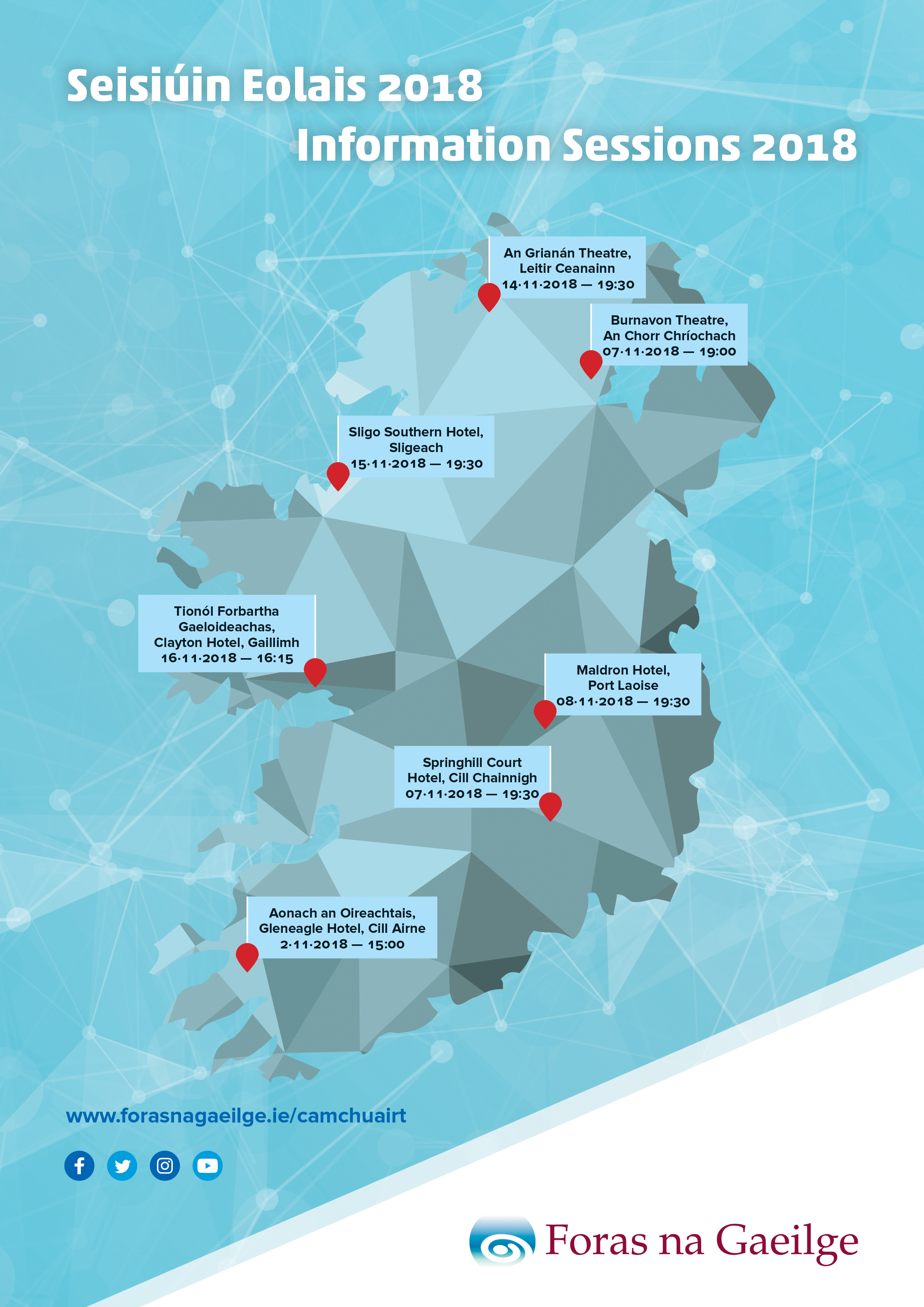 Map Of Ireland Gaeilge.Foras Na Gaeilge Announces Tour Www Forasnagaeilge Ie